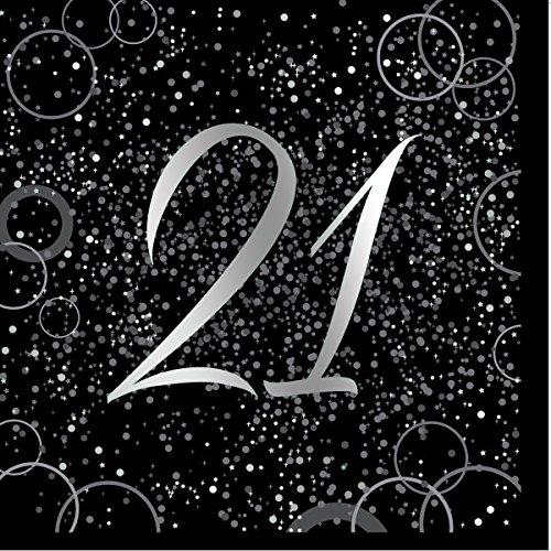 21st Geburtstag Party Ideen - Unique Papierservietten mit Foliendruck für