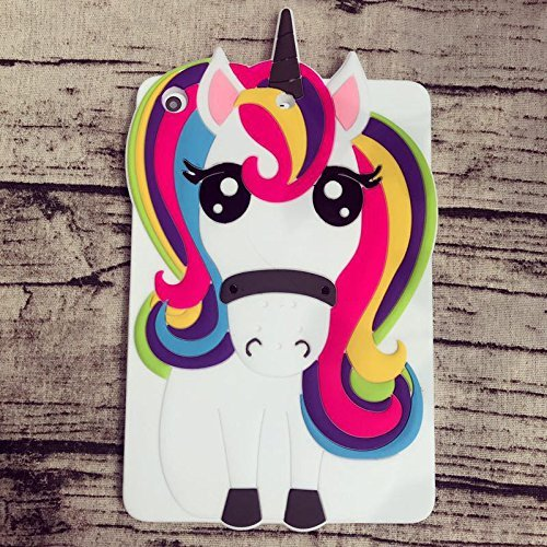 UCTOP STORE Magico Unicorno Pony Animal 3D Tablet Supporto a Forma di Gomma di Silicone per Apple iPad Mini 1,2,3