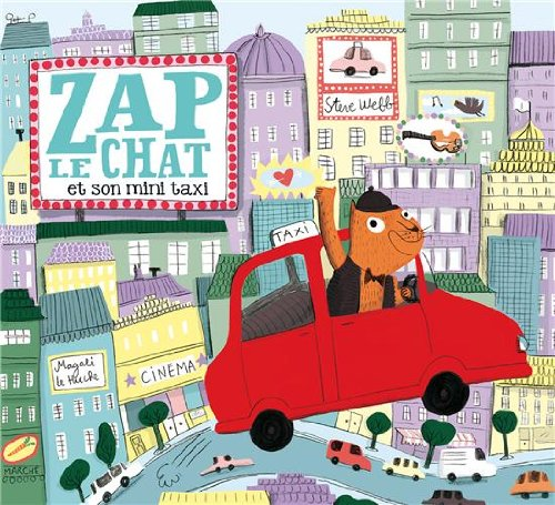 Zap le chat et son mini taxi par Steve Webb