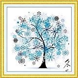 Sinbury® DIY Counted Cross Stitch Kits Embroidery Kit Winter Season Home Decor Colorful Tree