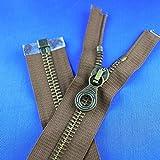 Lampo Reißverschluss 50cm braun Lederjacke teilbar Metall kräftig robust