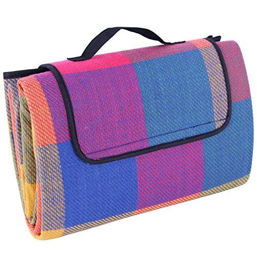 Songmics 195 x 150 cm Picknickdecke wärmeisoliert wasserdicht GCM50K
