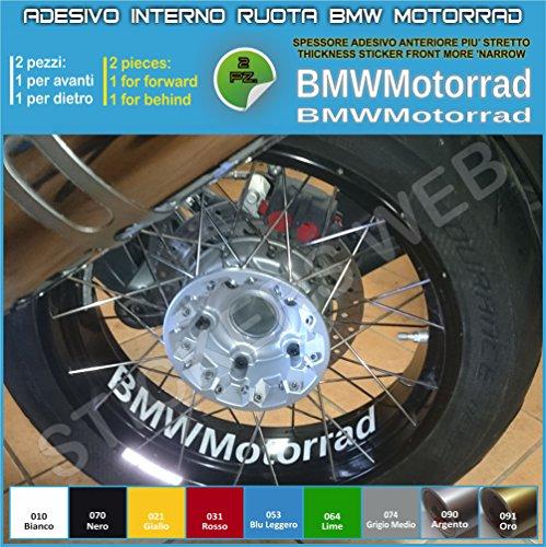 Aufkleber für Motorradfelgen, Schriftzug 'BMW Motorrad' R1200GS F800GS 0282 selbstklebend