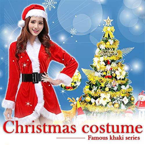 Weihnachten Kostüme Uniformen Geschenke, Bühnenkostüme, Party Rollenspiel Plus Größe Rot Kurzes Kleid Sexy Dessous Für Frauen Mädchen Auf ()