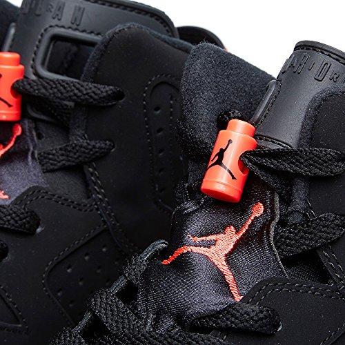 Nike Jungen Air Jordan 6 Retro Bg Turnschuhe, Schwarz Schwarz, Rot (Black / Infrared 23)