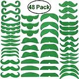 luoem Bärte selbstklebend Zubehör Kostüm St. Patrick Irlandes grün 48Teile