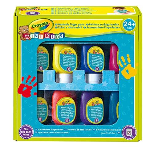 CRAYOLA- Mini Kids Set Pittura a Dita, Lavabile, età 24 Mesi, per Asilo e Tempo Libero, Colori Assortiti, 7958
