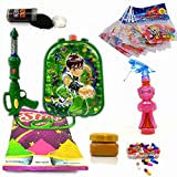 #10: Godofsale Holi Pressure Water Gun Pichkari with Back Pack Tank Squirter In Kids Favourite Characters - Size 1.5 ltrs ( Ben-10) + 200 Balloon, 1 Pack OF Color Capsule,1 Chandan, 2 holi color and 1 Gulal Free