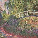 Artland Qualitätsbilder I Poster Kunstdruck Bilder 60 x 60 cm Landschaften Garten Malerei Grün C4AM Japanische Brücke im Garten von Giverney