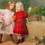 Posterlounge Forex 70 x 70 cm: Hilda and Franzi Matsch di Franz von Matsch/akg-images