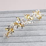 Weddwith Testa accessori Acconciature accessori oro Europa e spose americane copricapi corone accessori per capelli gioielli cristalli perle fasce per capelli matrimoni accessori