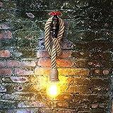 QQB Außenleuchte Vintage Loft Seil Wasserrohr Wandleuchte, Treppe Flur Gang Schlafzimmer Wohnzimmer Restaurant Bar Cafe Wandleuchte