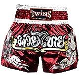 Borgoña Pantalones Cortos De Muay Thai y Kick Boxing Satén Liga de la Competencia de luz/tws-868, color Negro - negro, tamaño XL