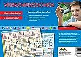 Verkehrszeichen - Aktuelle Übersicht der wichtigsten Verkehrszeichen, Gefahrenzeichen etc. im Straßenverkehr - ideal zur theoretischen Führerscheinprüfung