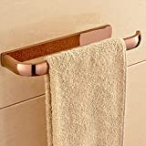 Hiendure Wall Mounted Brass Towel Holder Bathroom Kitchen Towel Rack Rail Rose Gold Polished
