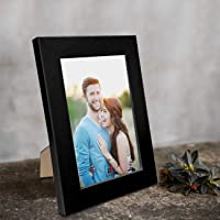 """Art Street Synthetic Table/Wall Photo Frame for Home Décor (4"""" x 6"""", Black)"""