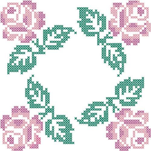 Stamped Fairway Quilt Blocks quattro Stich Design a croce, 18 x 18 cm, confezione da 6
