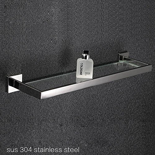 QUEEN'S Bagno accessori hardware Sanitary Ware vetro rack 304 in acciaio inox spazzolato a strato singolo molte specifiche Rack di stoccaggio 40cm (100 Set) - Singole Organico