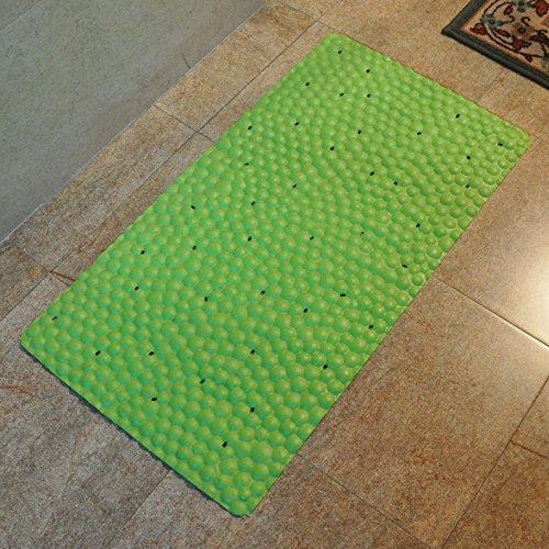 GFYWZ Doccia in PVC tappetino da bagno stuoie tappeti casa , green , 70*37cm