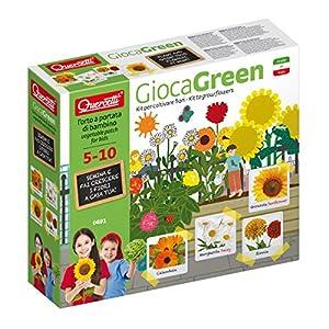 Quercetti 0691-Juegos Green Flores Margarita, Zinnia, Calendula, Girasol