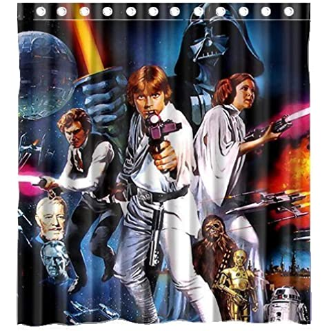 STARFISH Custom Movie Star Wars Waterproof Polyester Fabric Bathroom Shower Curtain Standard Size 66(w)x72(h)