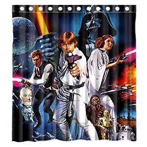 LEGENDT Custom Movie Star Wars Waterproof Polyester Fabric Bathroom Shower Curtain Standard Size 66(w)x72(h)