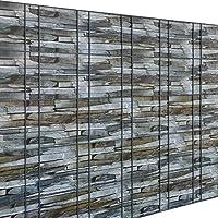 [Neu.Haus] Rollo de Aislamiento (Efecto Piedra Marrón)(35m) para Vallas y Demás Superficies - Lámina de Ocultación Protege contra el Viento