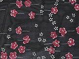 Floral Print Polyester Chiffon Kleid Stoff pink auf