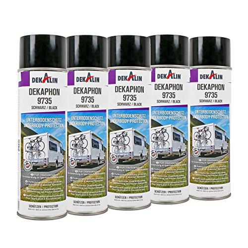 5x Dekaphon 9735 Unterbodenschutz Schwarz für Sperrholz & Fußbodenplatten 500 ml ideal für Caravan und Wohnmobil
