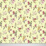 Soimoi Blumendruck 44 Zoll breit reine Seide Fabric 20 GSM