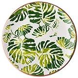 Rice Keramik Teller Tropenblätter
