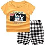 Ropa de Bebé Niño Trajes Camisa Superior con Estampado de Dinosaurio de Manga Corta de Verano, Conjunto de Ropa para Pantalon