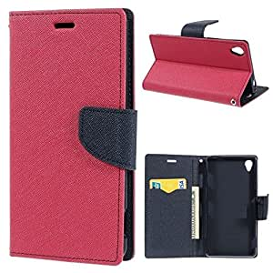 IDEAL Mercury Magnetic Fancy Diary Wallet with Stand Case Flip Cover For Samsung Galaxy S6 - Pink
