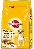 Pedigree Adult Mini Hundefutter Huhn und Gemüse, 6 er Pack (6 x 1,4 kg)