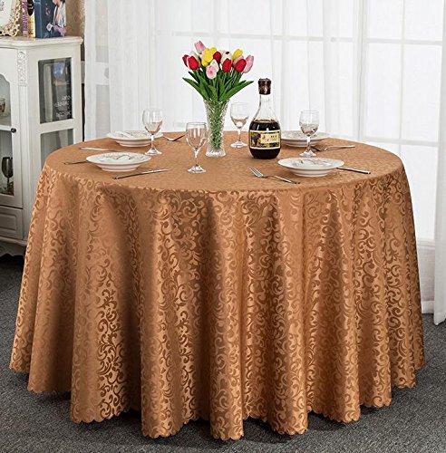 Tischtuch Europäisches Hotel Tischdecke, Stoff runder Speisetisch, Hotel-Gaststätte-Tabelle Kaffeetisch-Tuch Kundenspezifische Tabelle runde Tisch-Tischdecke Tischsets ( Farbe : B , größe : Circle 3.4m )
