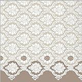 Sovie Horeca Serviette Mandy | Tissue-Servietten 40x40 cm | saugstarke und hochwertige Einweg-Servietten | ideal für Hochzeit & Feiern | 100 Stück | Grau