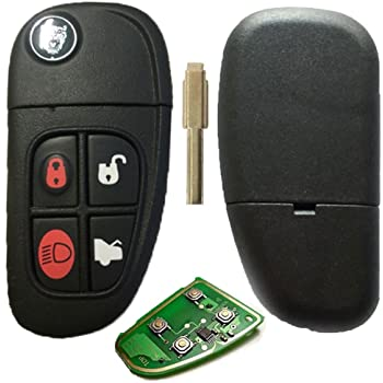 433 4 Buttons Remote Key FOB with Circuit Board for Jaguar X type S type XJ