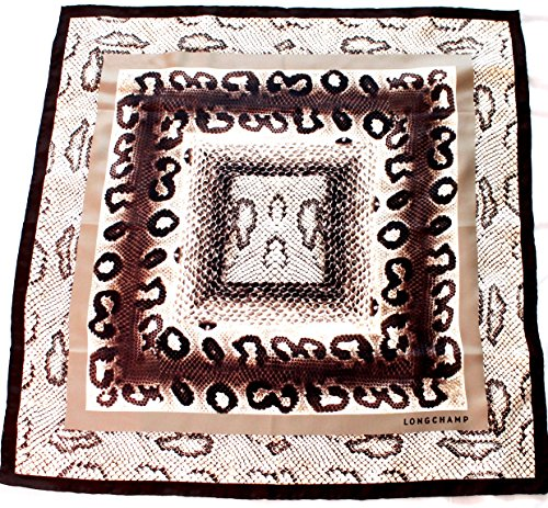 longchamp-seidentuch-69-x-69cm-reptil-look-kaki-und-schwarz-scarve