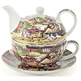Leonardo Country Life Chine Tea-for-one Théière Tasse et soucoupe Ensemble Lp92903
