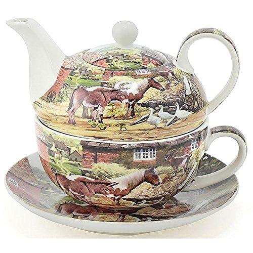 Leonardo Country Life Chine Tea-for-one Théière Tasse et soucoupe Ensemble Lp92903