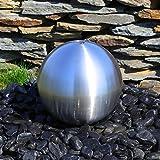Edelstahlkugel Brunnenkugel 30cm matt gebürstet für Springbrunnen Gartenbrunnen Zierbrunnen Wasserspiel Kugelbrunnen