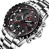 Mens Waterproof Sport Watches Men Luxury Brand LIGE Business Fashion Analogue Quartz Watch Man Full Steel Black Wristwatch