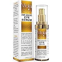 𝗣𝗥𝗘𝗠𝗜𝗨𝗠 Anti Ageing Eye Serum / Eye Cream for Dark Circles, Puffiness & Crows Feet - Anti Wrinkle Eye Serum - Reduces…