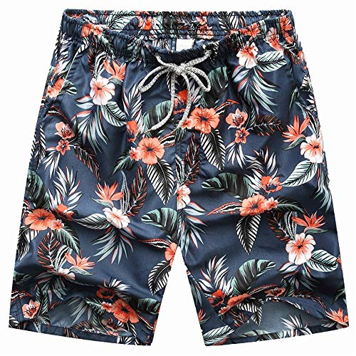 me Hosen, Strandhosen für modische HosenSommer Paar Shorts fünf Punkte Hosen Blumen XXXL ()
