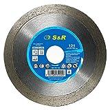 S&R Disco Diamantato 125 per GRES PORCELLANATO, Piastrelle smaltate e Ceramica dura, Marmo, Porcellana 125 x 22,2x10,0 CORONA