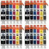 4 Compatible Set of 6 Canon PGI-550 & CLI-551 Printer Ink Cartridges (24 Inks) - Black / Cyan / Magenta / Yellow / Grey for Canon Pixma iP8750, MG6350, MG7150, MG7550, MX925