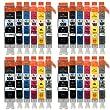 4 Compatible Set de 6 Canon PGI-550 / CLI-551 Cartouches d'encre avec puces pour imprimantes (24 encres) - Noir / Cyan / Magenta / Jaune / Gris pour Canon Pixma iP8750, MG6350, MG7150, MG7550, MX925