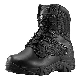 Amazmall Mens Military Desert Combat Boots Work Boots: Amazon.co ...