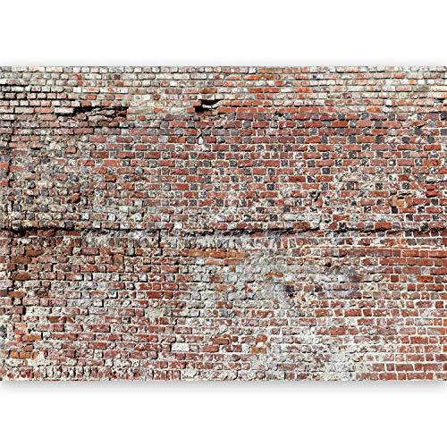 murando - Vlies Fototapete 500x280 cm - Vlies Tapete - Moderne Wanddeko - Design Tapete - Ziegel Mauer f-A-0461-a-a
