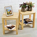 Best Classic Brands Sofa Sets - Aingoo Set of 2 Solid Wood Bedside Tables Review